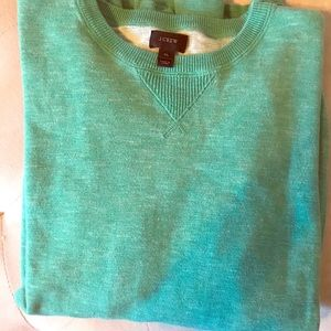 J. Crew green cotton sweater XL